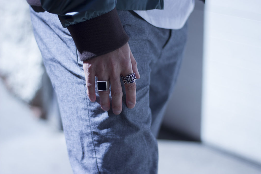 mens rings maison margiela chrome hearts