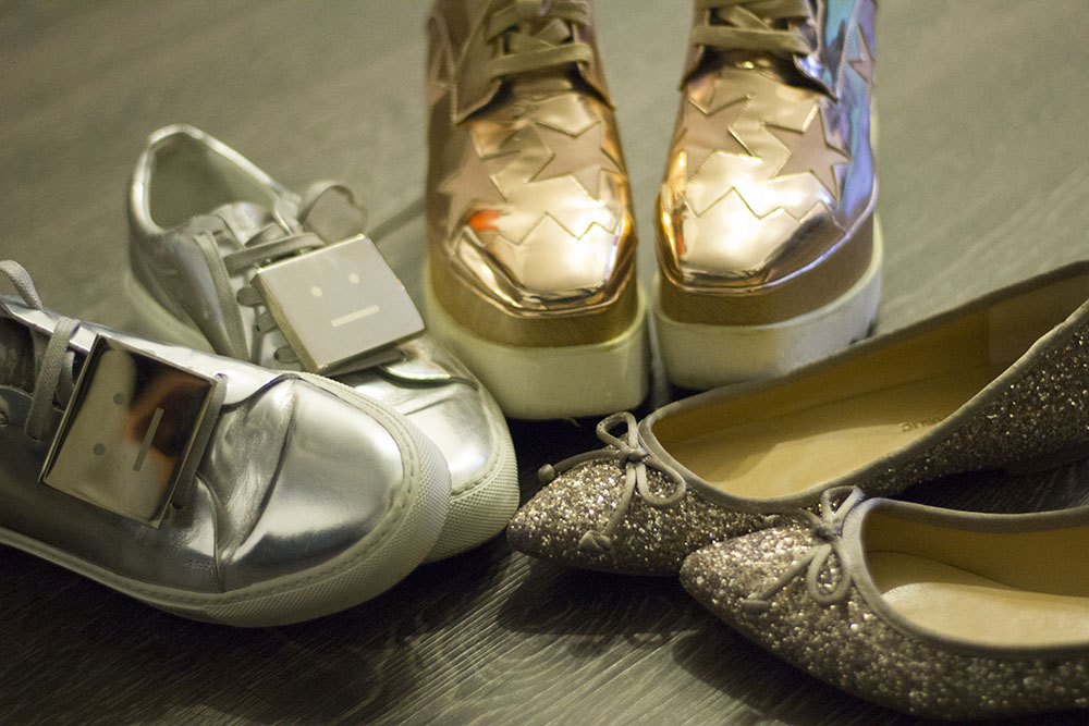 metallic shoes | acne studios | stella mccartney | banana republic